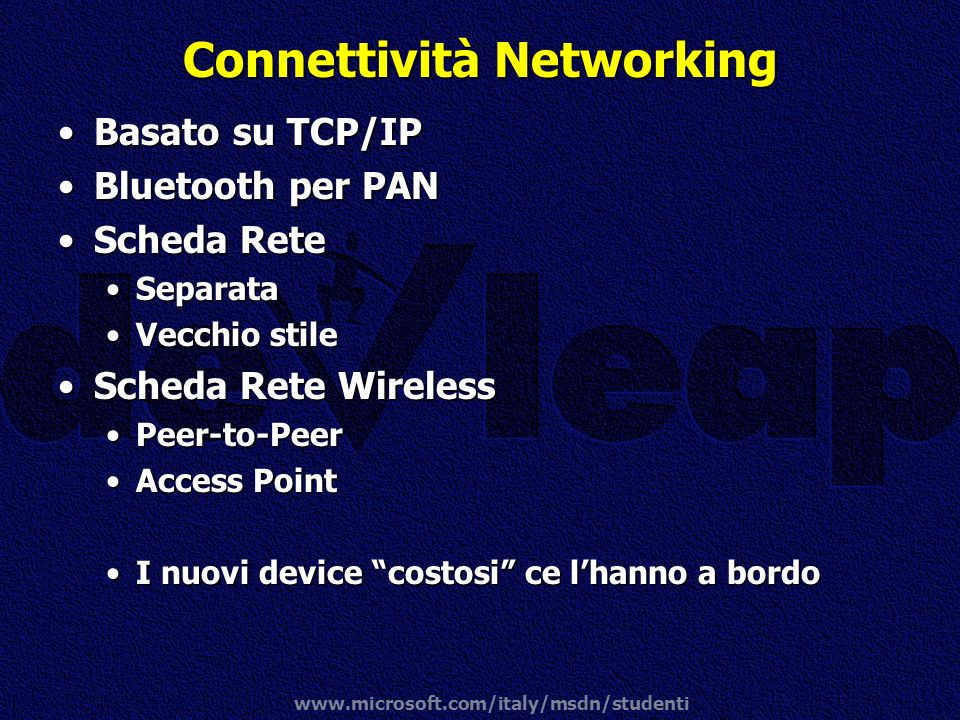 Connettività Networking