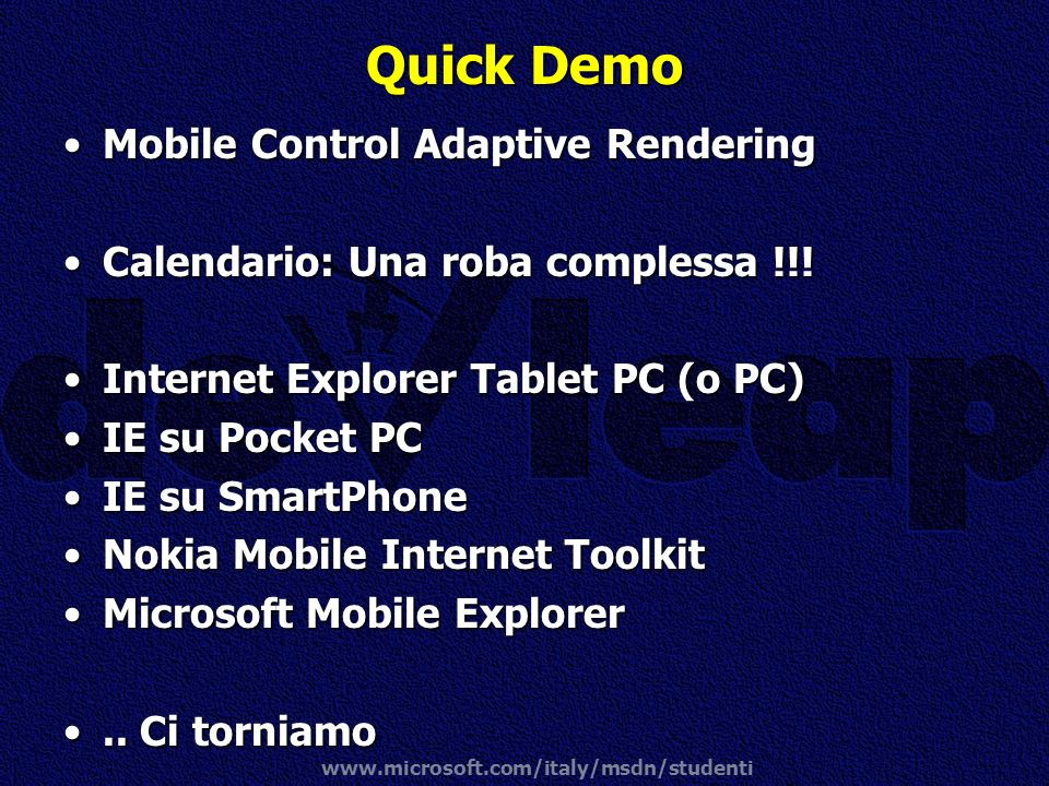 Quick Demo Mobile Control Adaptive Rendering