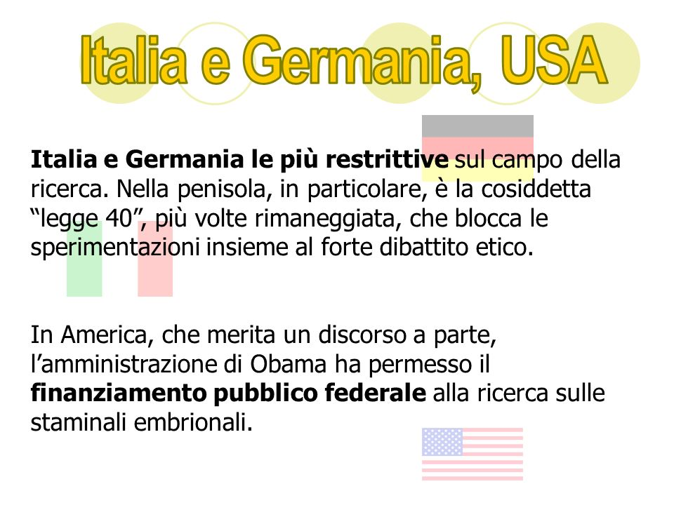 Italia e Germania, USA