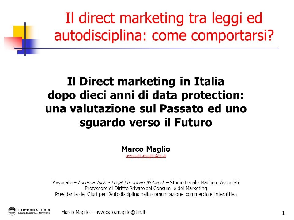 Il direct marketing tra leggi ed autodisciplina: come comportarsi