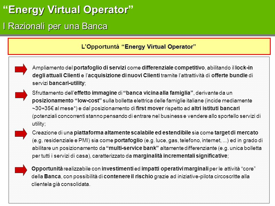 L'Opportuntà Energy Virtual Operator