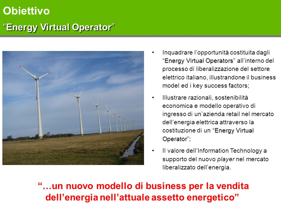 Obiettivo Energy Virtual Operator