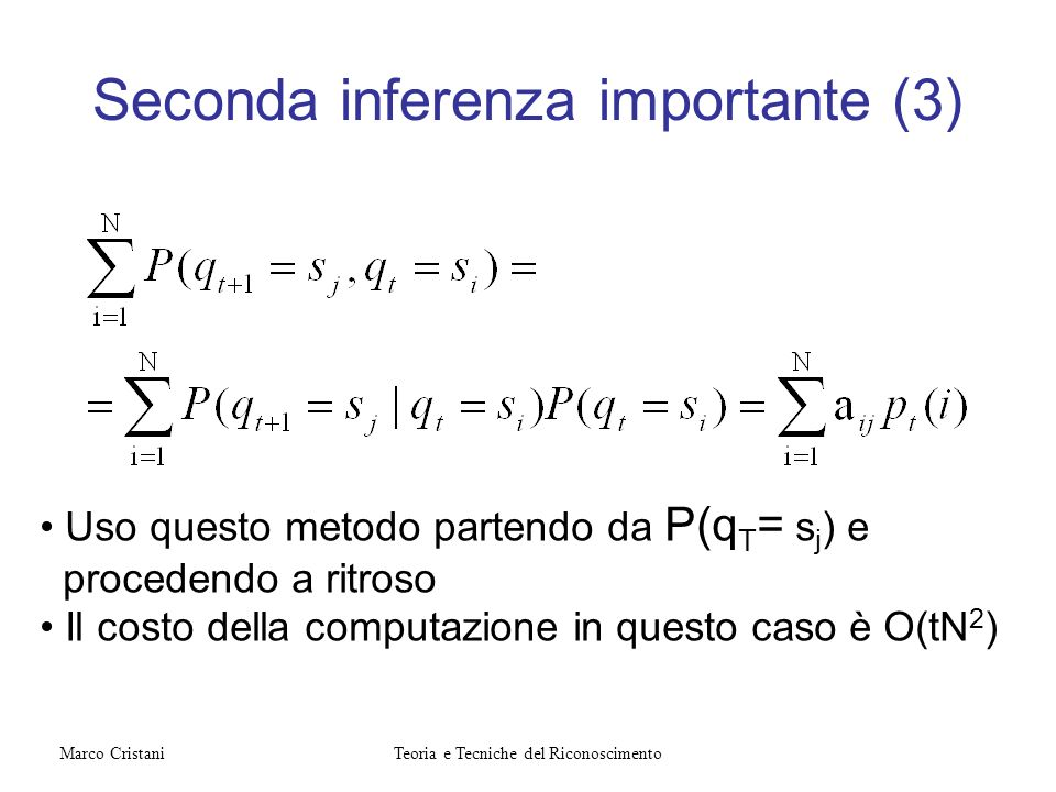 Seconda inferenza importante (3)
