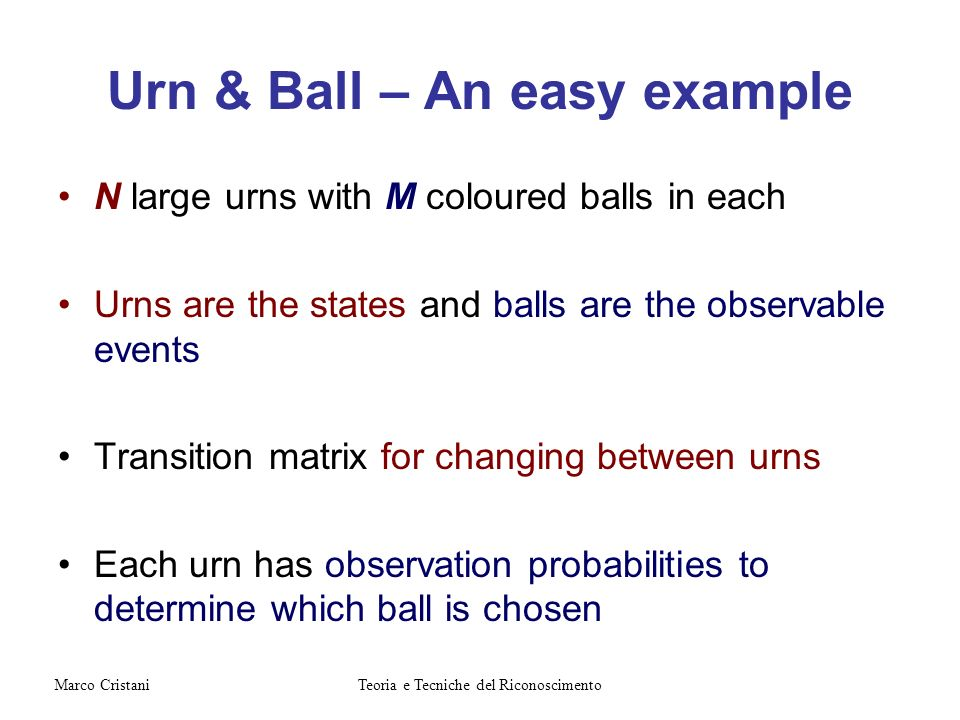 Urn & Ball – An easy example