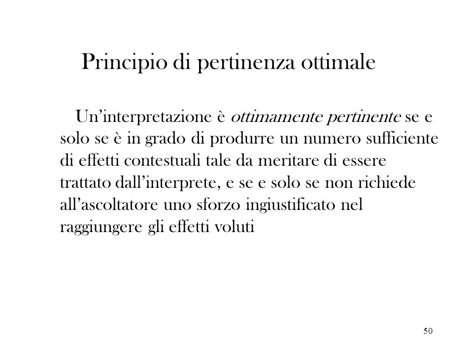 Principio di pertinenza ottimale