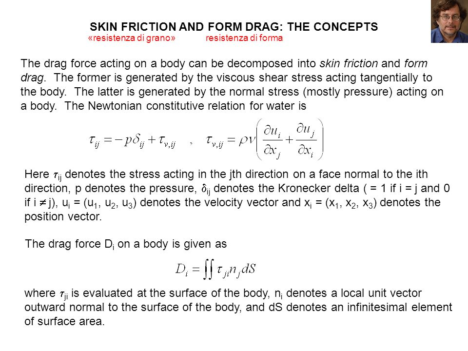 SKIN FRICTION AND FORM DRAG: THE CONCEPTS