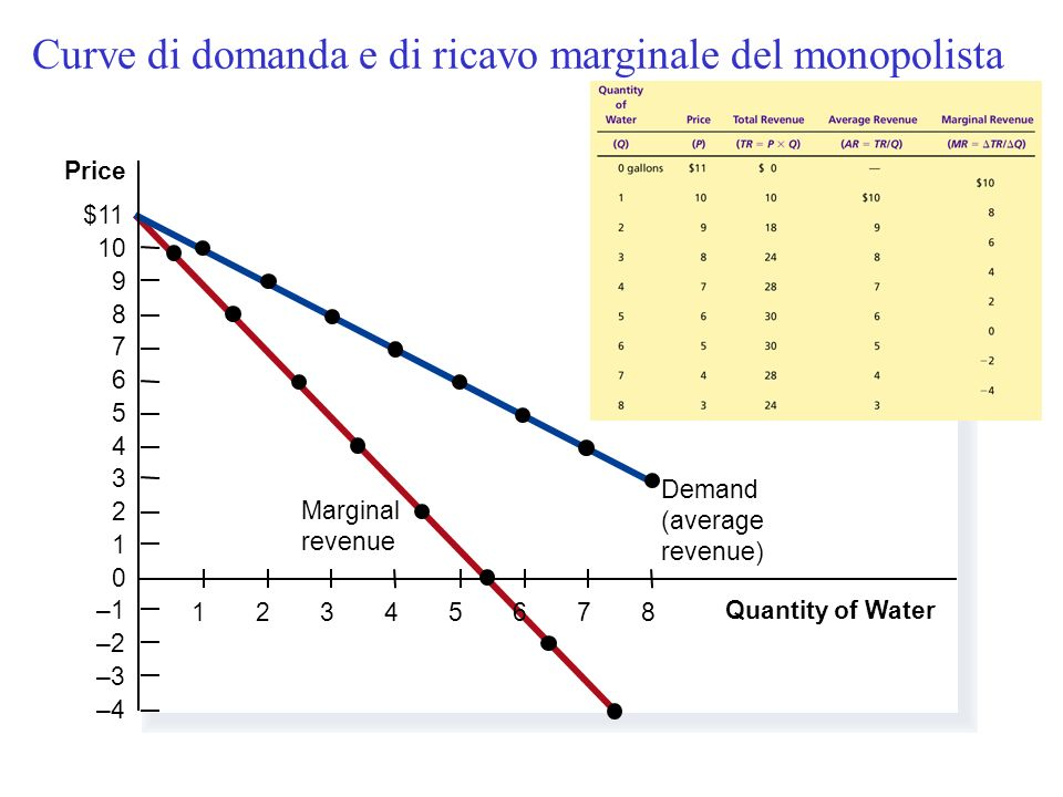 Figure 3 Demand and Marginal-Revenue Curves for a Monopoly