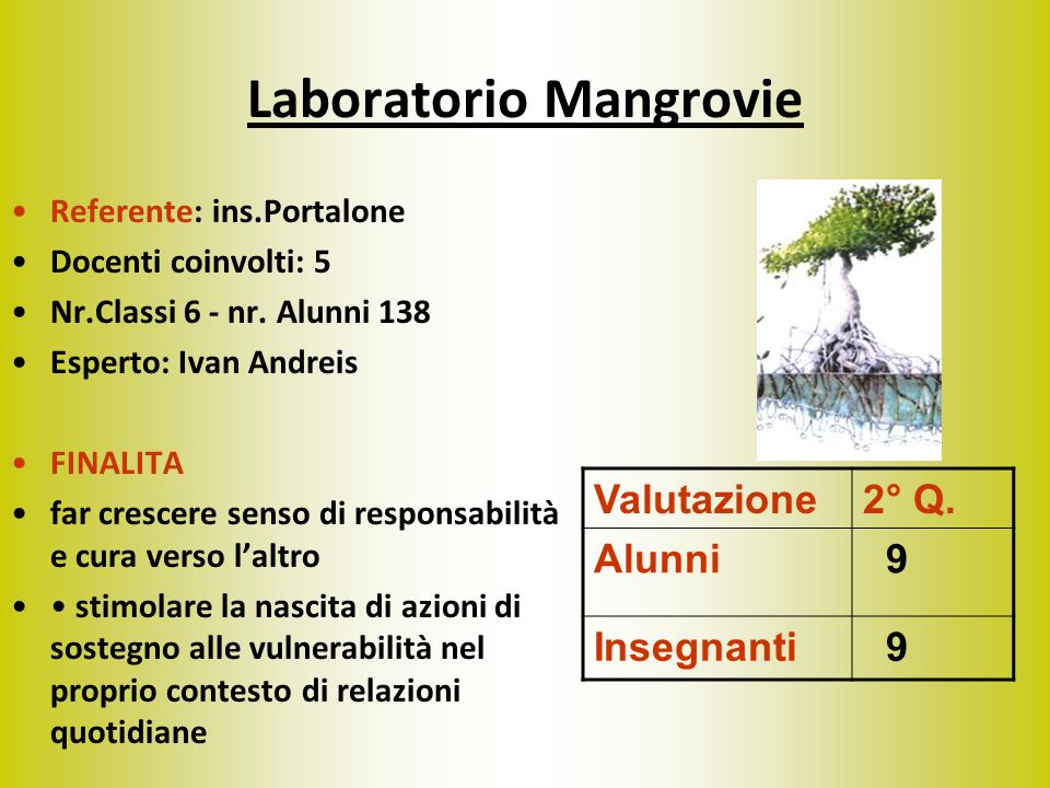 Laboratorio Mangrovie