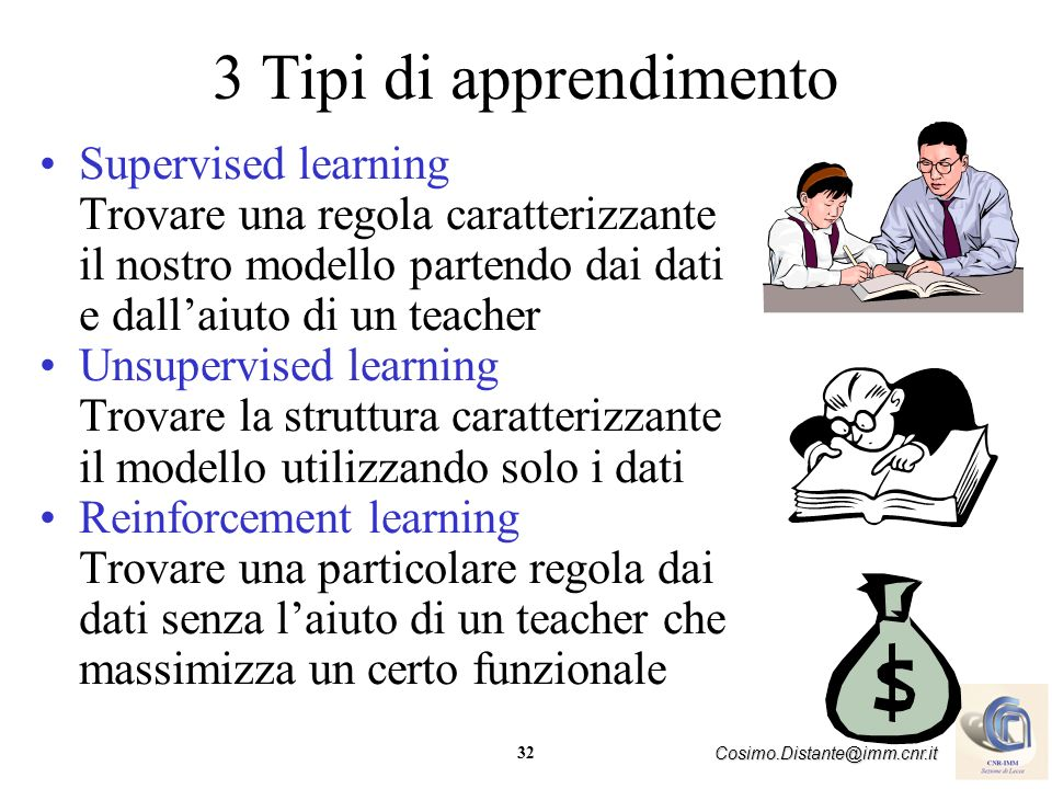 3 Tipi di apprendimento Supervised learning