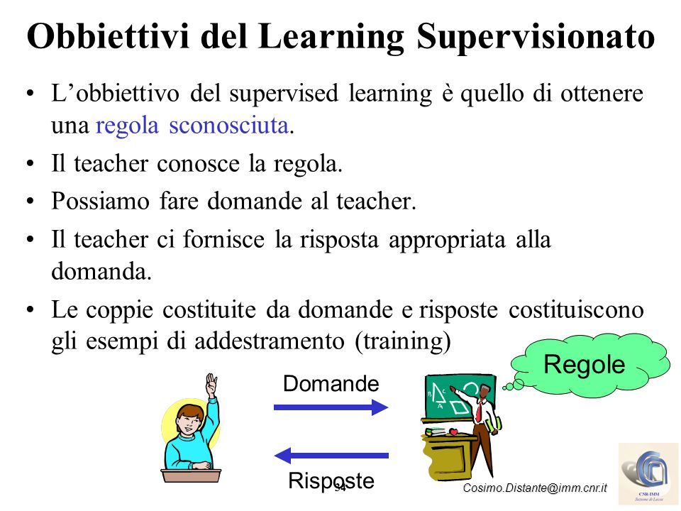 Obbiettivi del Learning Supervisionato