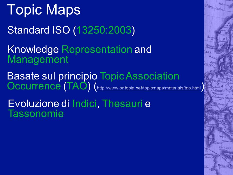 Topic Maps Standard ISO (13250:2003)