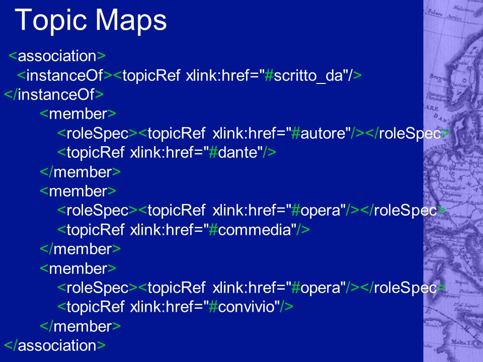 Topic Maps <association>