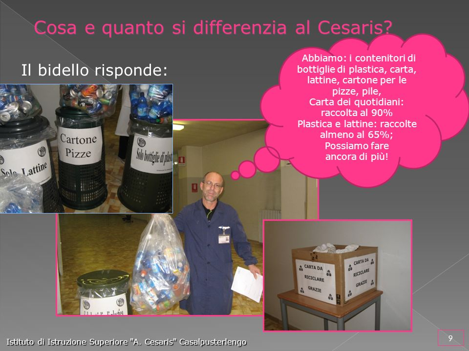 Cosa e quanto si differenzia al Cesaris