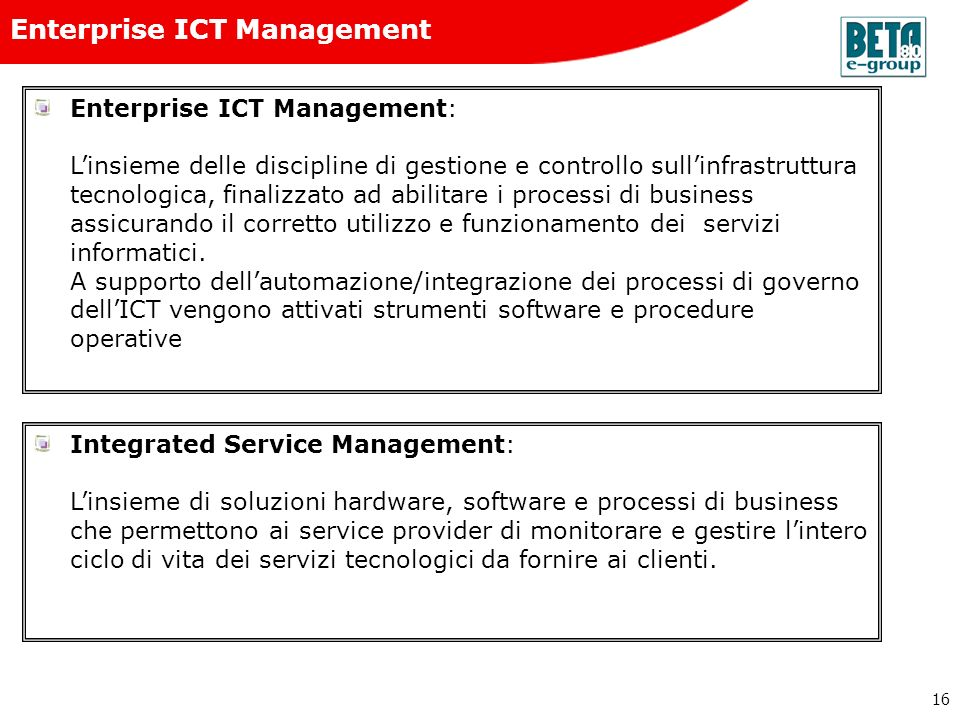 Enterprise ICT Management