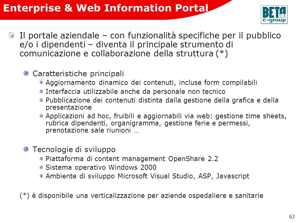 Enterprise & Web Information Portal