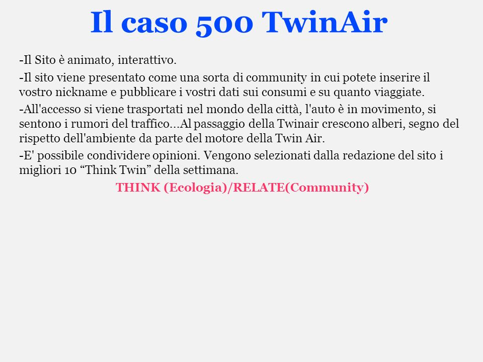 THINK (Ecologia)/RELATE(Community)