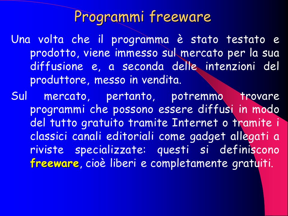 Programmi freeware