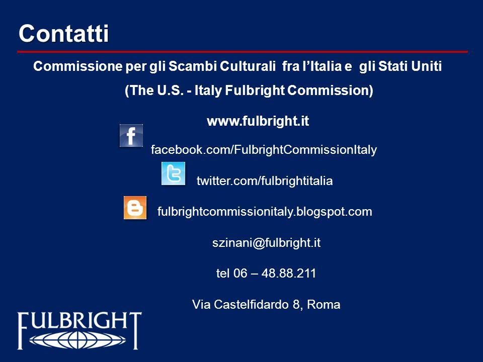 (The U.S. - Italy Fulbright Commission)