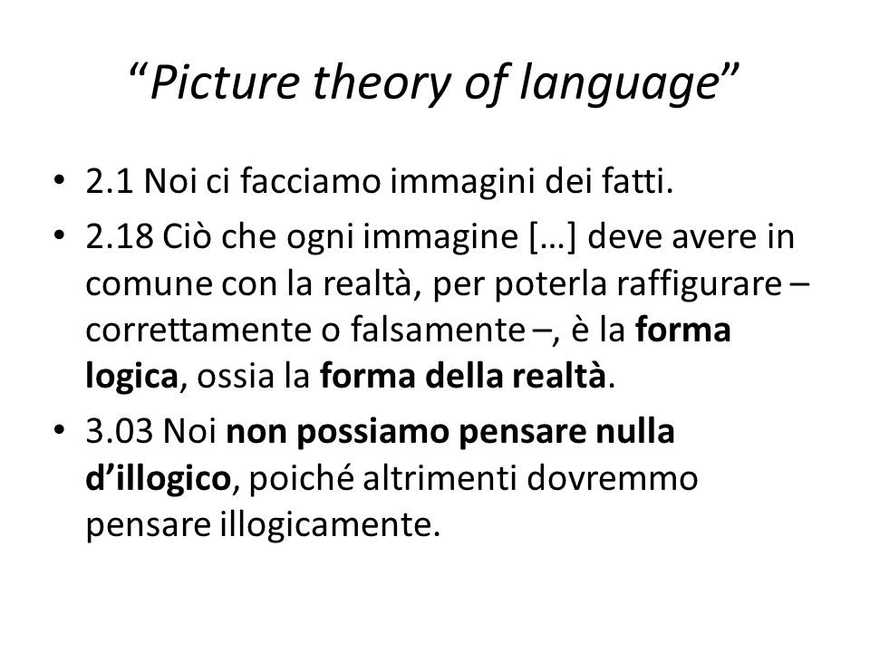 Picture theory of language