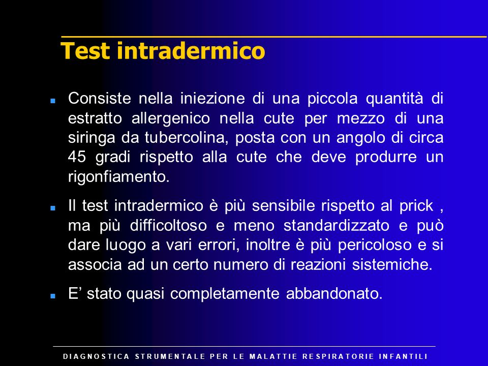 Test intradermico