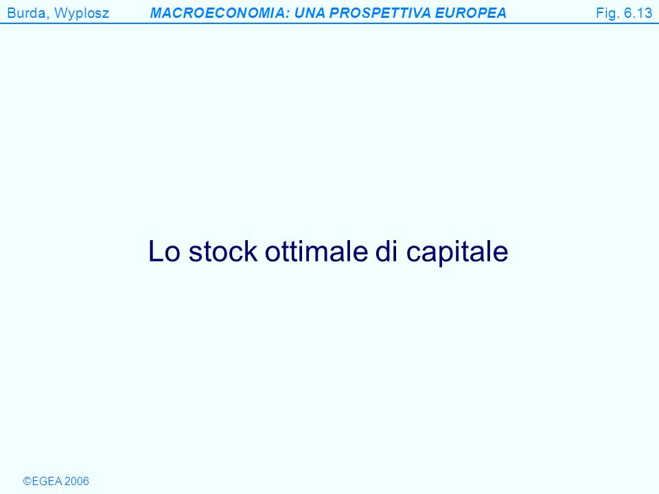 Lo stock ottimale di capitale