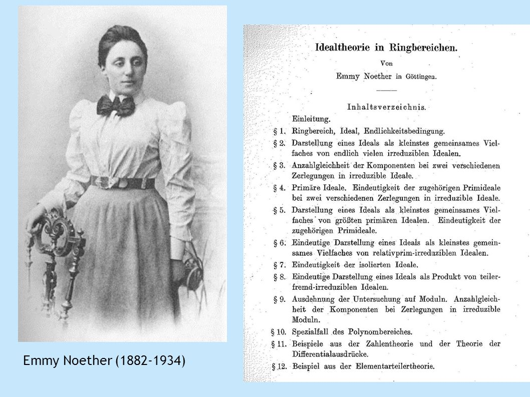 Emmy Noether ( )