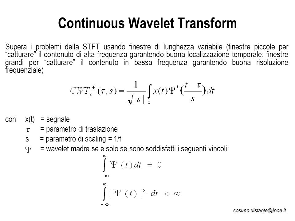 Continuous Wavelet Transform