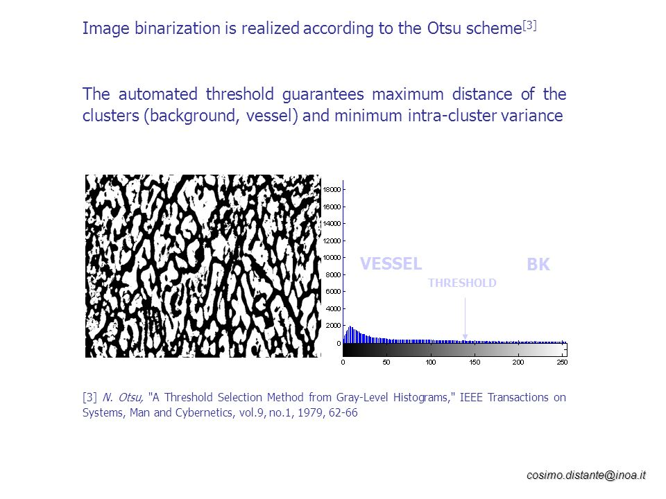 Image binarization is realized according to the Otsu scheme[3]