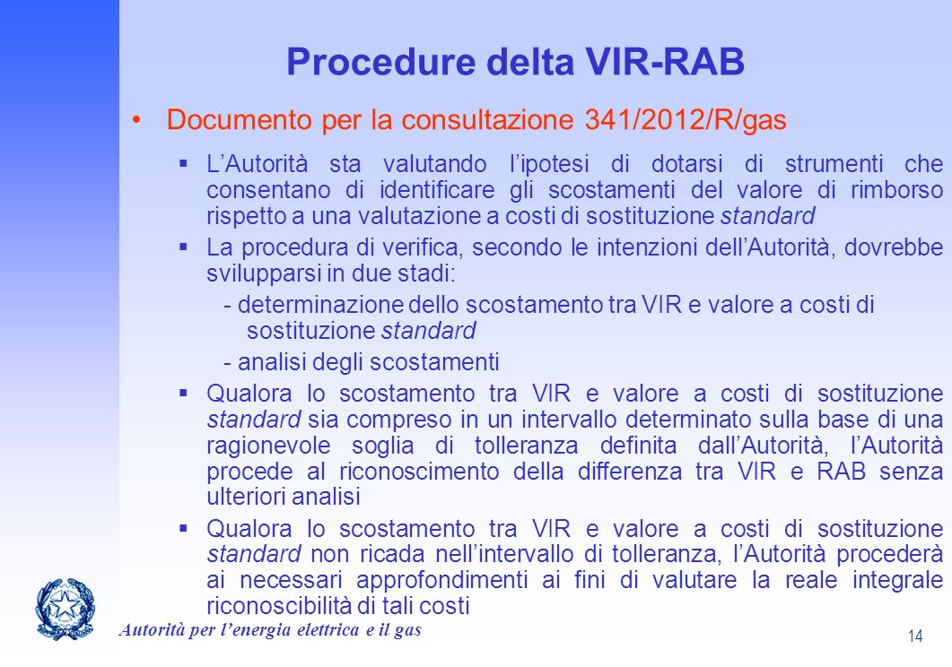 Procedure delta VIR-RAB
