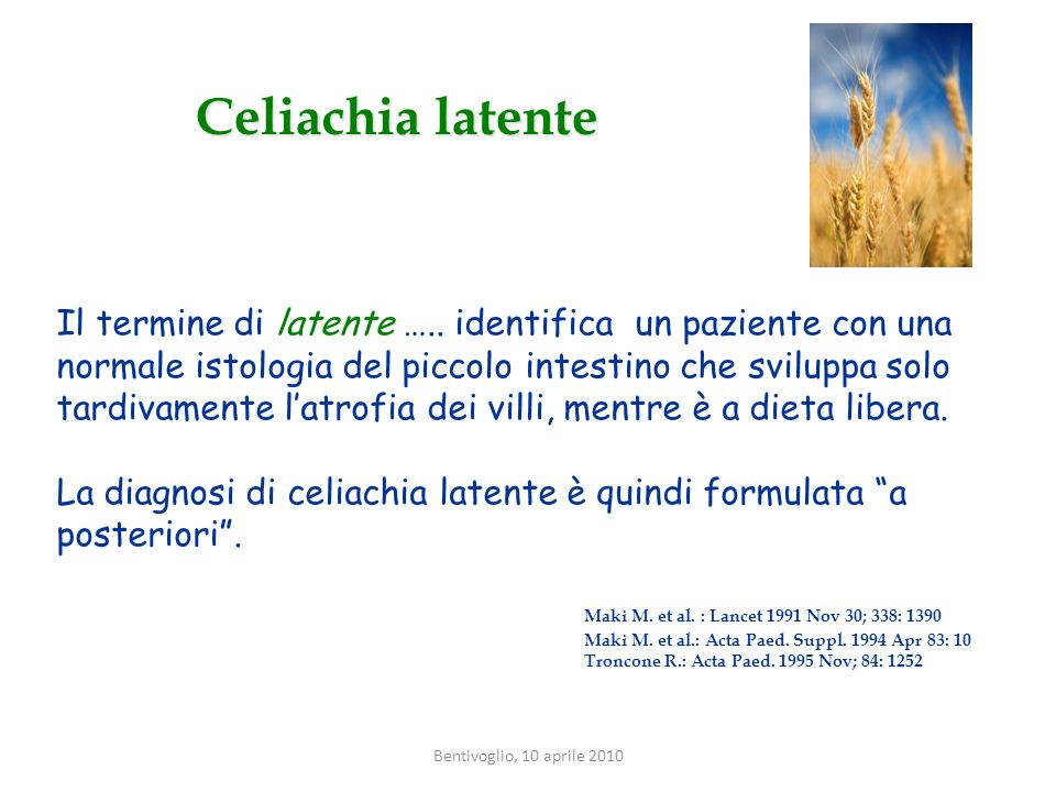 Celiachia latente