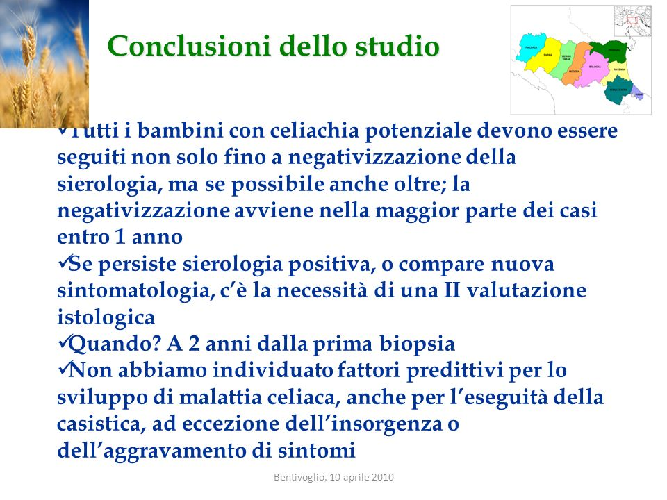 Conclusioni dello studio