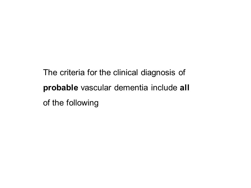 The criteria for the clinical diagnosis of