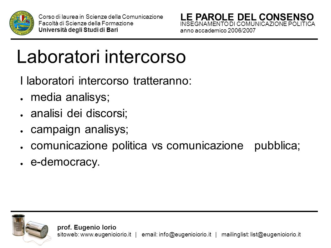 Laboratori intercorso