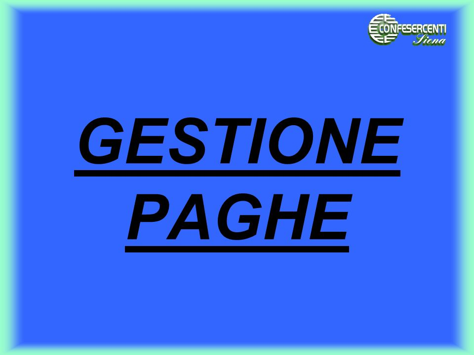 GESTIONE PAGHE