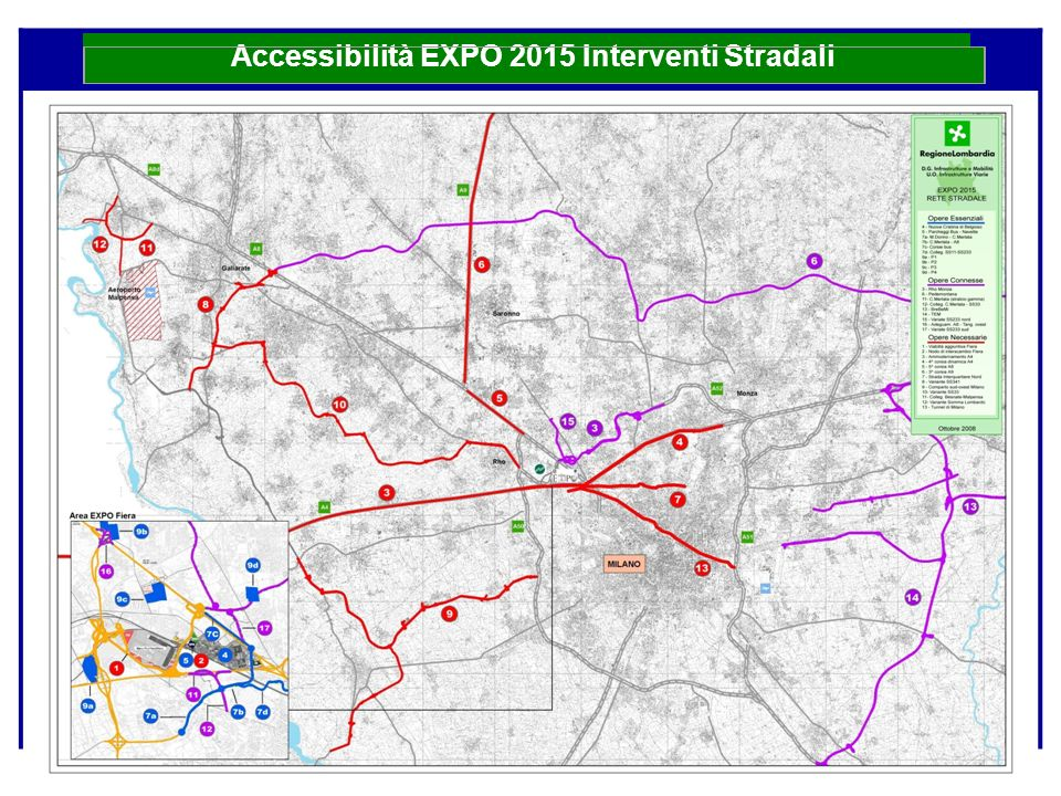 Accessibilità EXPO 2015 Interventi Stradali