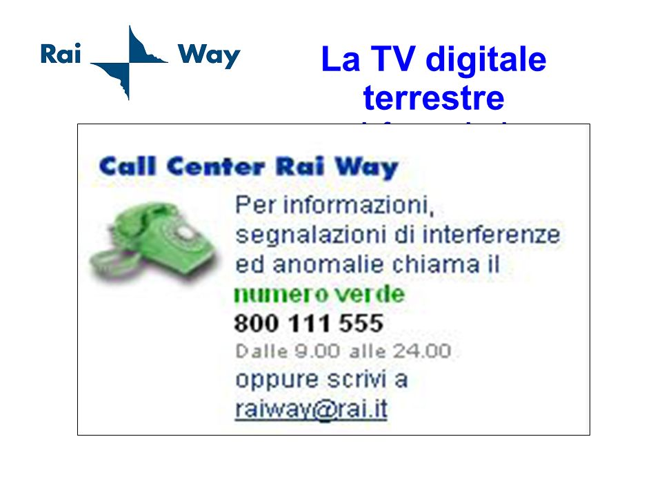 La TV digitale terrestre informazioni