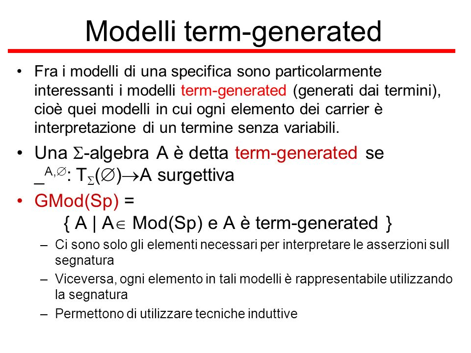 Modelli term-generated