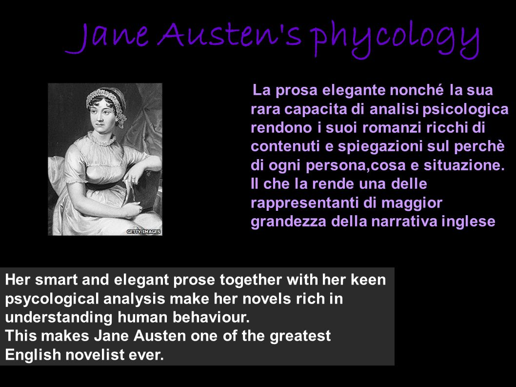 Jane Austen s phycology