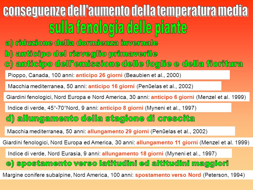 conseguenze dell aumento della temperatura media
