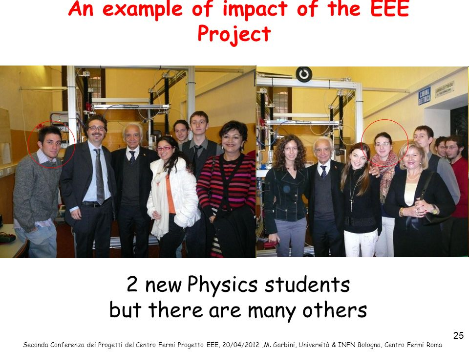 An example of impact of the EEE Project