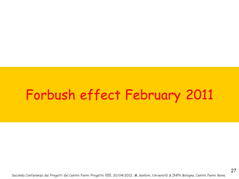 Forbush effect February 2011