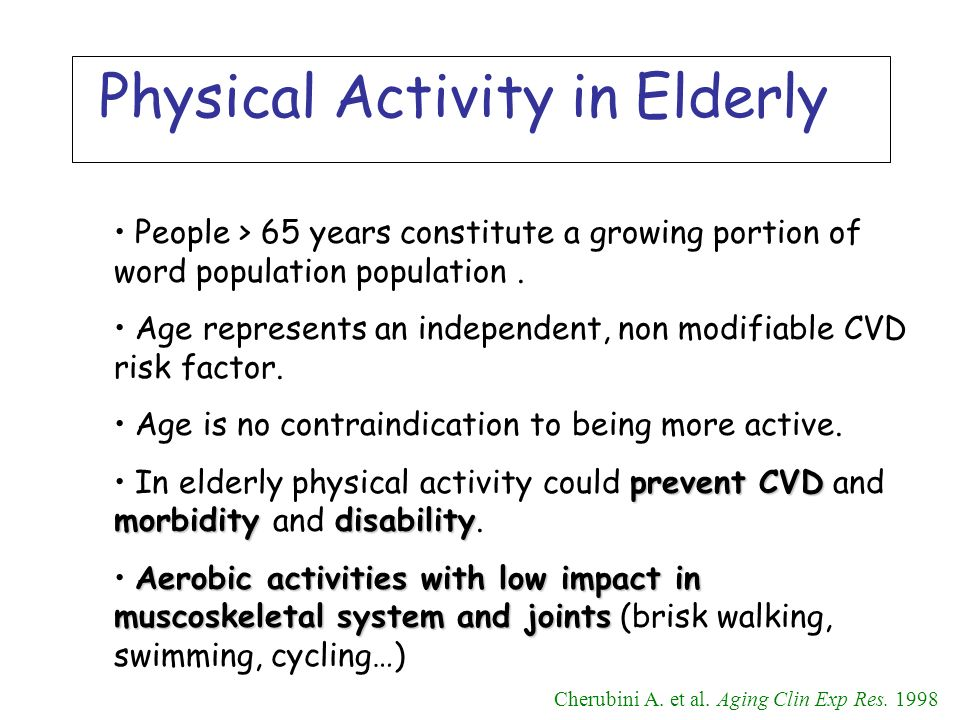 Physical Activity in Elderly