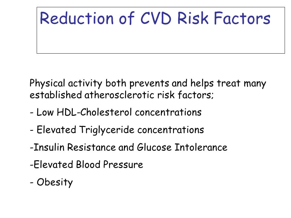 Reduction of CVD Risk Factors
