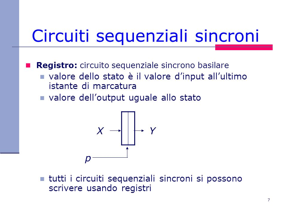 Circuiti sequenziali sincroni