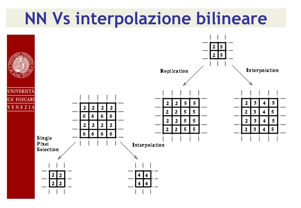 NN Vs interpolazione bilineare