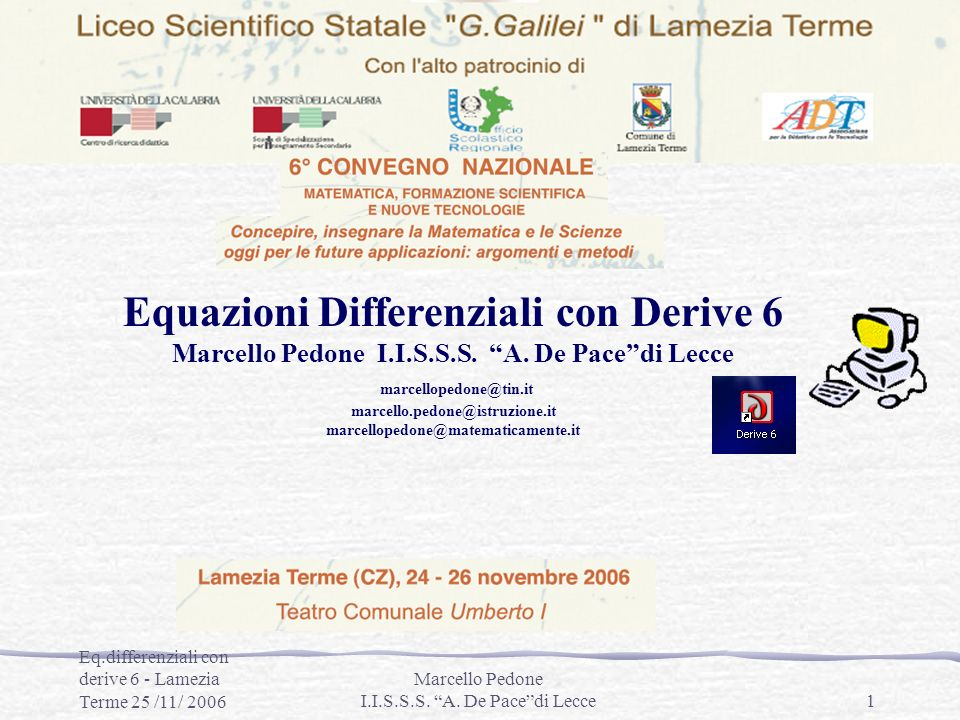 Equazioni Differenziali con Derive 6