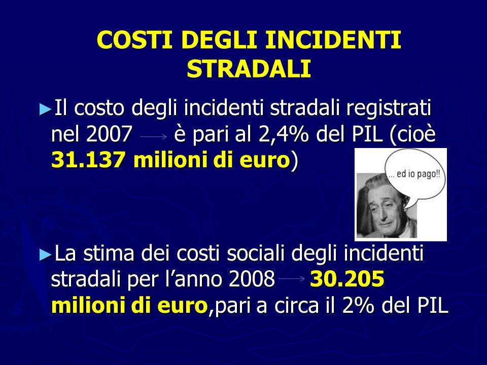COSTI DEGLI INCIDENTI STRADALI
