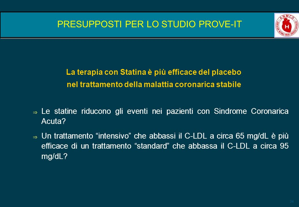 PRESUPPOSTI PER LO STUDIO PROVE-IT