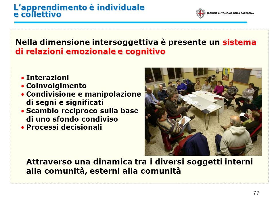 L'apprendimento è individuale e collettivo