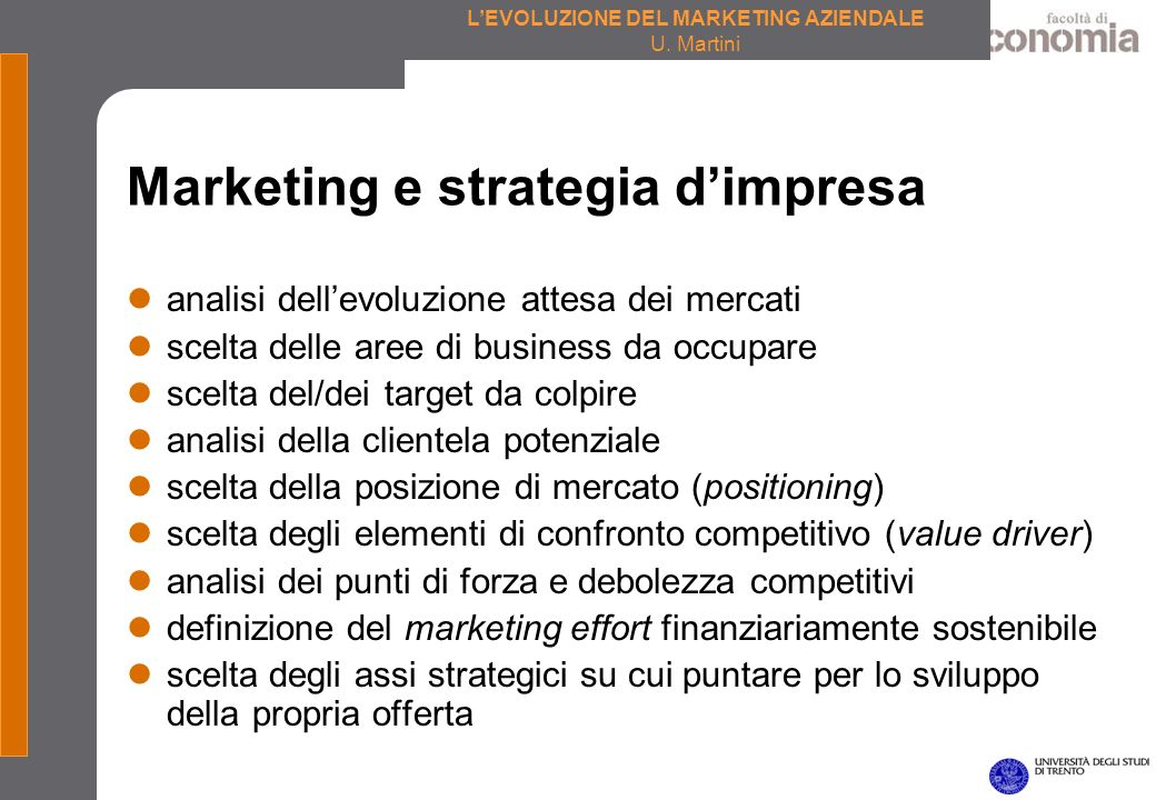 Marketing e strategia d'impresa